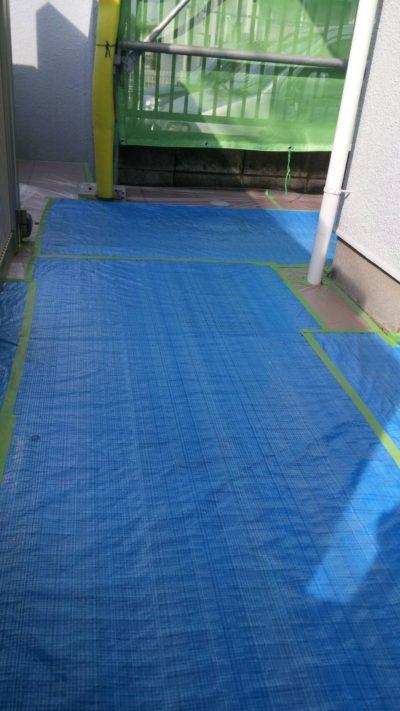 藤沢市K様邸で床養生の写真