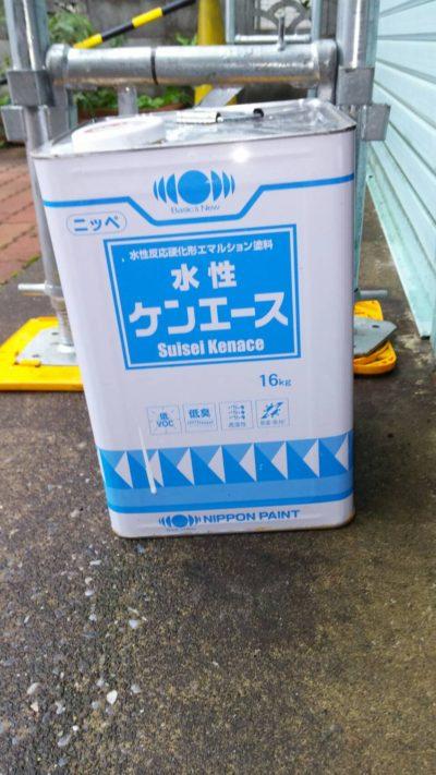 藤沢市メゾンタイプ軒天井を塗り替える塗料の写真