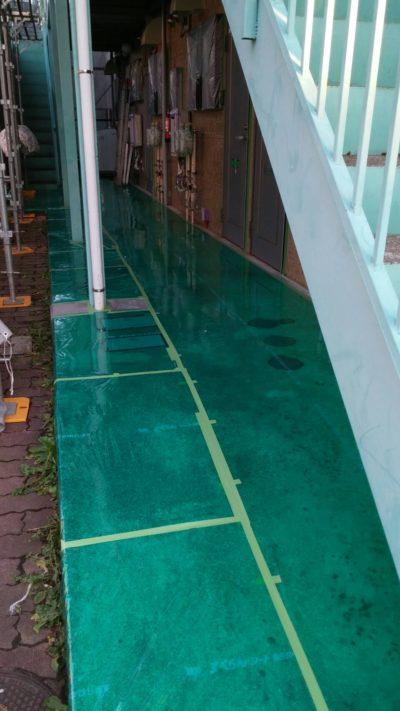 藤沢市メゾンタイプのサイディングを塗り替えた後の写真