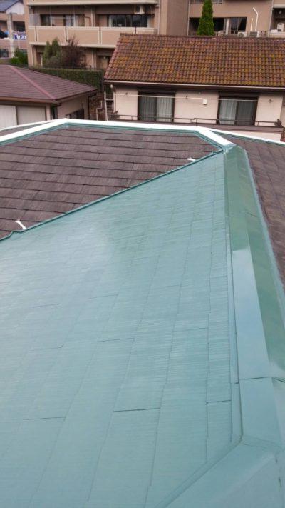 屋根塗装が終わった後の写真